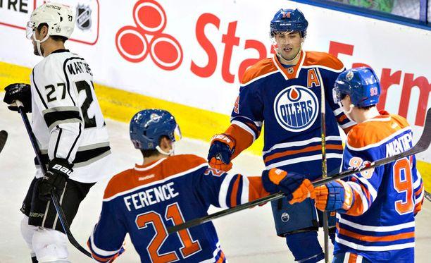 Oilers juhli pitkästä aikaa voittoa.