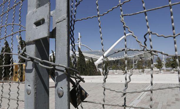 Kuvan on otettu vuonna 2014. Moni Ateenan kisojen kalliista suorituspaikoista on hylättyinä.
