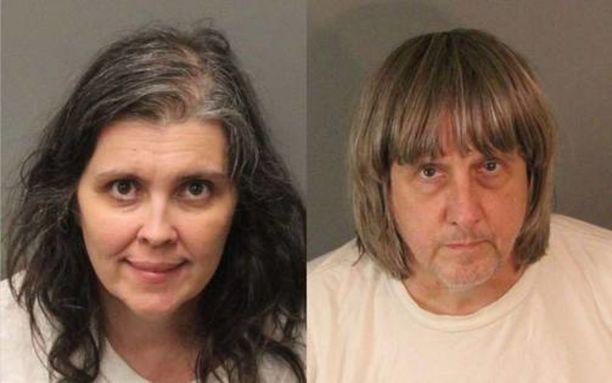 Louise ja David Turpin kiduttivat lapsiaan vuosikausia Kaliforniassa.