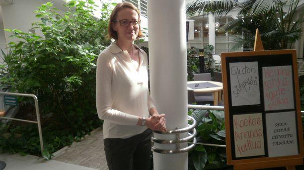 – Tästä pelikone haettiin pikaisesti aamulla pois, kertoo toiminnanjohtaja Sanna Mäkinen.
