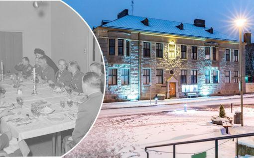 Mannerheimin sodanaikainen asunto on myynnissä – graniittisesta mammuttirakennuksesta pyydetään 1,7 miljoonaa euroa, kurkista sisään!