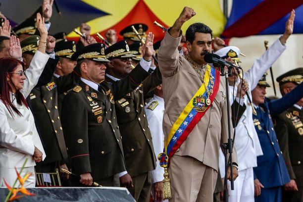 Venezuelan presidentti Nicolas Maduro on ollut kritiikin kohteena, sillä maan talousahdinko on jatkanut heikentymistään.