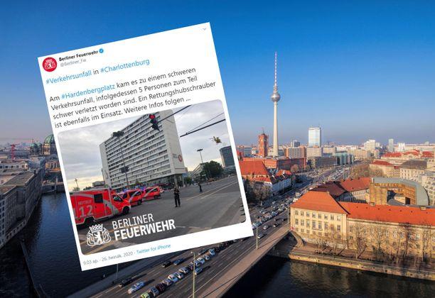 Tapahtumapaikka oli Berliinin keskusta-alueella.