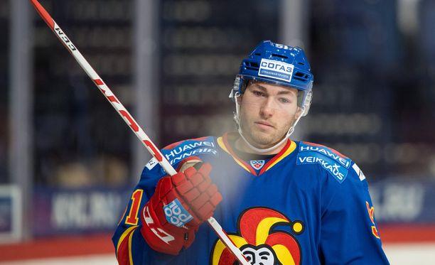 Brandon Kozun otti osumaa Lokomotiv-ottelussa viime sunnuntaina.