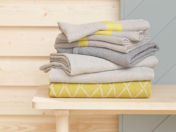 Tekstiilitkin ovat kotimaista käsityötä.