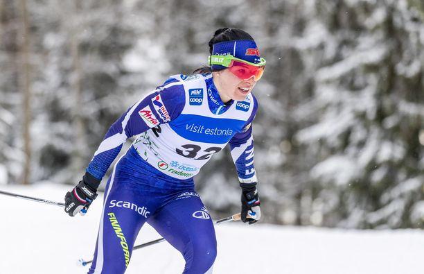 Krista Pärmäkoski hiihti Ruotsissa perinteisen osuuden.
