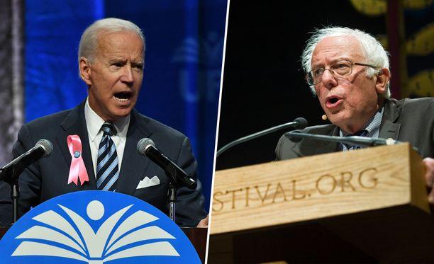 Joe Biden ja Bernie Sanders ovat kärjessä Accuscoren ennusteessa supertiistain tuloksista.