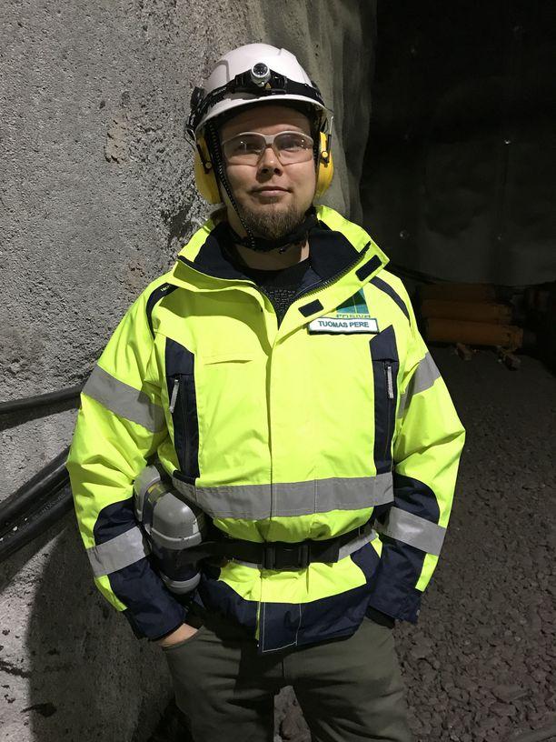 Posivan geologi Tuomas Pere vastaa loppusijoituspaikan monitoroinnista.