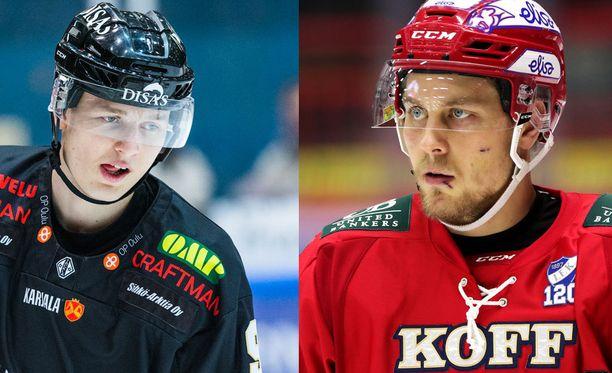Kristian Vesalainen (vasemmalla) ja Juhani Tyrväinen ottivat yhteen lauantaina.