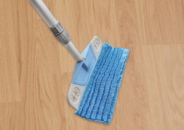 Pikamoppi on nopea ottaa käyttöön ja sopii kaikille lattiamateriaaleille.