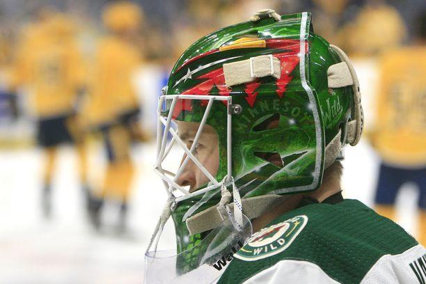 Kaapo Kähkönen pääsi Wildin NHL-joukkueen mukaan.