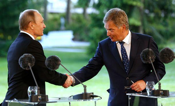 Venäjän presidentti Vladimir Putin vieraili viime kesänä Kultarannassa.
