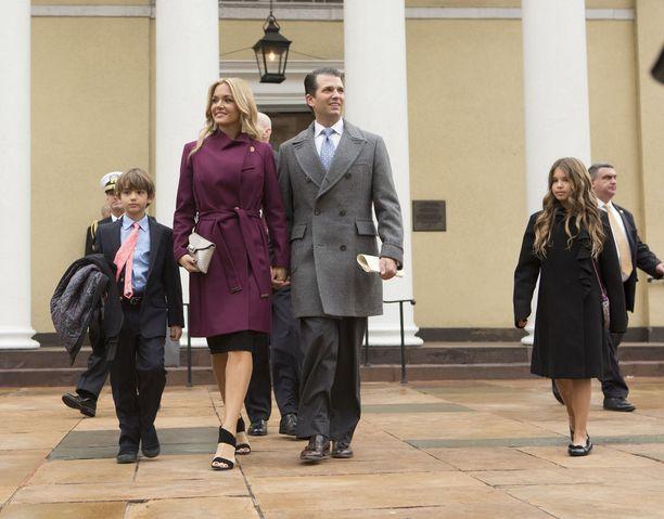 Vanessa ja Donald Trump Jr:llä on viisi lasta.