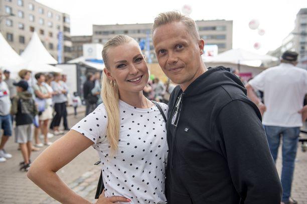 Kia Lehmuskoski ja Marko Keränen Porissa kesällä 2019.