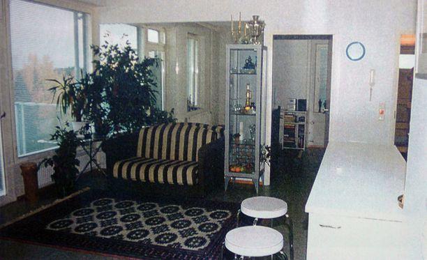Ünsal murhattiin tässä asunnossa lokakuussa 2003. Kuva Ünsalin palkkamurhaa koskevasta esitutkintapöytäkirjasta.
