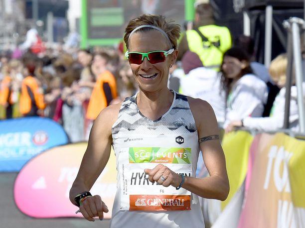Anne Mari Hyryläinen oli Hampurin maratonilla yhdeksäs. Kuva vuodelta 2018.