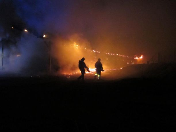Navettarakennus syttyi palamaan Rovaniemellä sunnuntaina. Kuvituskuva.