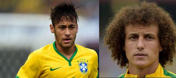 Neymar (oikealla) ja David Luiz lukeutuvat Brasilian suurimpiin tähtiin.
