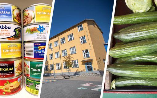 Ylöjärvi jakaa koululaisille kolmen viikon kouluruoat kerralla – kaikki tämä mahtuu 14 kilon ruokakassiin