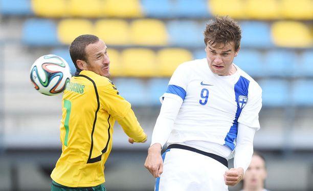 Eero Markkanen debytoi A-maajoukkueessa toukokuussa Baltic-cupissa Liettuaa vastaan.