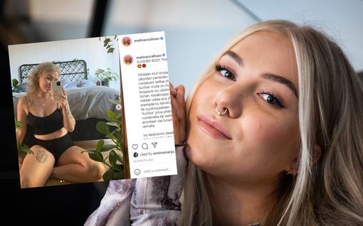 Laulaja Evelina, 26, kritisoi laihdutuskulttuuria vahvassa kirjoituksessaan – näyttää oman kesäkuntonsa