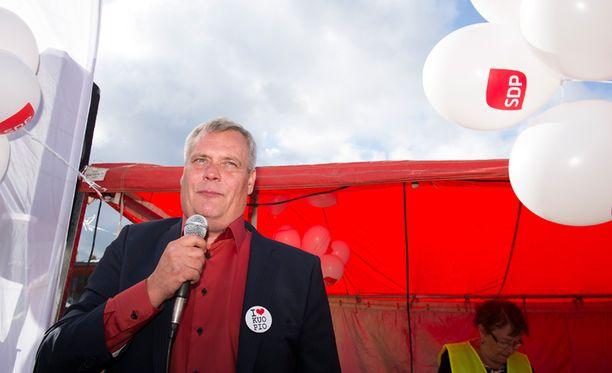 SDP:llä on eduskuntavaalien suurin vaalibudjetti. Kuvassa puolueen puheenjohtaja ja valtiovarainministeri Antti Rinne.