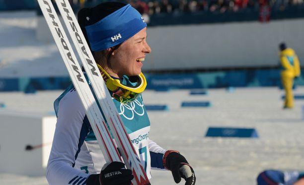 Krista Pärmäkoski paahtaa maailmancupin sprinttejä Drammenissa.