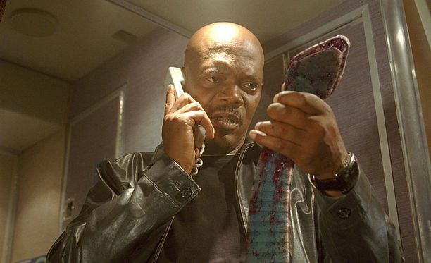 Samuel L. Jackson elokuvassa Snakes on a Plane (2006).