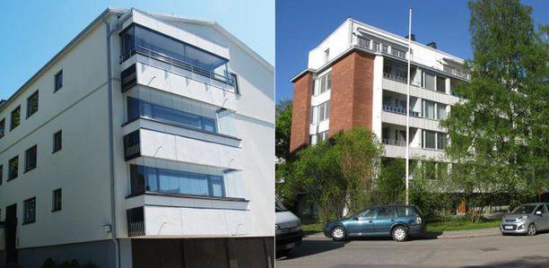 Kaksi esimerkkiä valmistuneista lisäkerroksista vanhoihin taloihin.