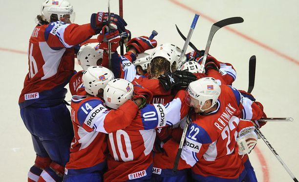 Ruotsi johti Norjaa 3-1, mutta Norja ei pudonnut kyydistä.