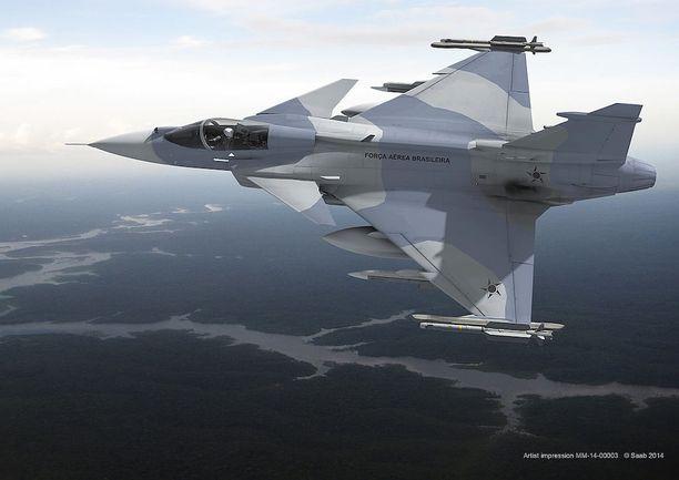 Saab Jas 39E Gripen.