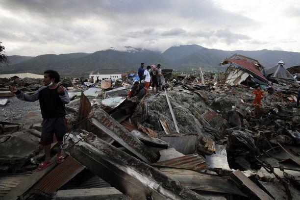 Balaroan kylä Palussa on täysin tuhoutunut.