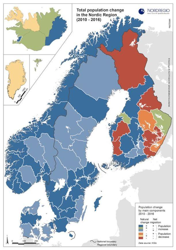 Vaestokartta Paljastaa Karun Tilanteen Suomi Erottuu Selvasti