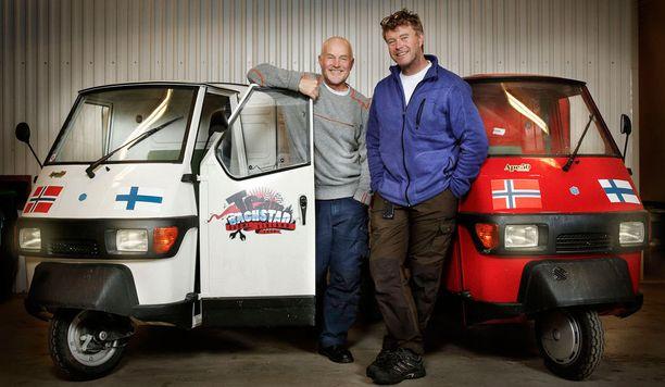 Rune ja Øystein ovat matkustaneet erikoisilla kulkuneuvoilla aiemminkin.