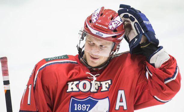 Juuso Puustinen on edelleen poissa HIFK:n kokoonpanosta.
