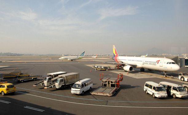 Jejun lentokenttä on yllättävänkin vilkas.