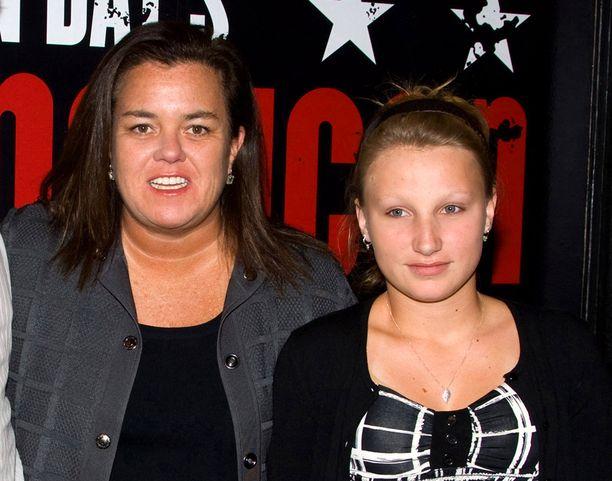 Rosie O'Donnell tyttärensä Chelsean kanssa vuonna 2010.