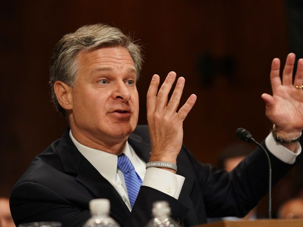 FBI-johtaja Christopher Wray oli senaatin kuultavana tiistaina.