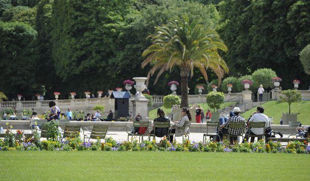 Pariisilaiset eivät ole tänä keväänä päässeet Luxembourg-puistoon.