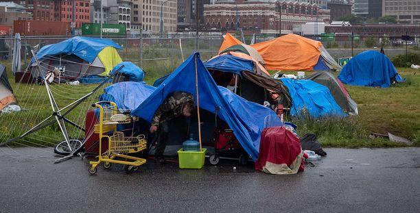 Useat kodittomista uhreista joutuivat sairaalaan. Arkistokuva.