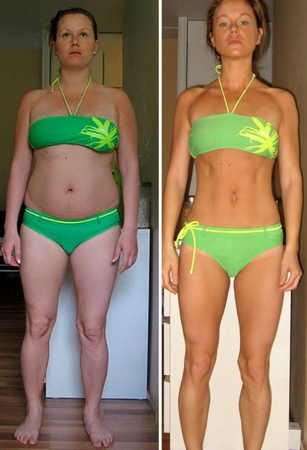 Vasemman puoleinen kuva otettu projektin alussa ja oikean puoleinen joulukuussa 2011.