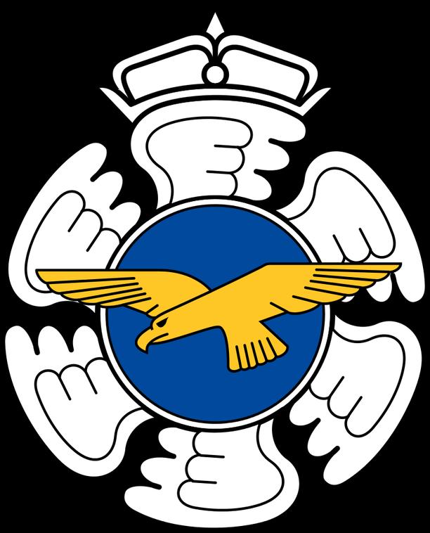 Kuvassa nykyinen, vuonna 2017 käyttöön tullut Ilmavoimien esikunnan joukko-osastotunnus.