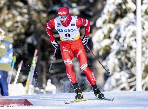 Gleb Retivyh oli lauantaina sprintissä toinen.