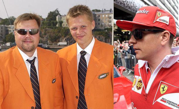 Hockey Night -äijien oranssit takit vetosivat Kimi Räikköseenkin.