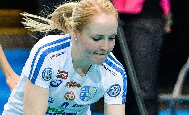 Eliisa Alanko osui kahdesti Slovakiaa vastaan.