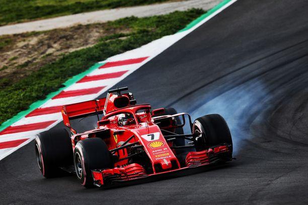 Kimi Räikkönen oli talvitestituloslistan kakkospaikalla.