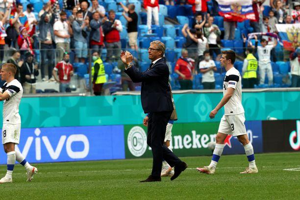 Markku Kanerva kiitti Suomen faneja kannustuksesta.