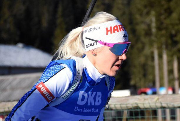 Kaisa Mäkäräinen otti toisen perättäisen voiton ampumahiihdon maailmancupissa.