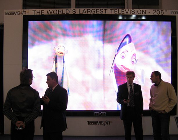 Luxio-näyttöä mainostettiin harhaanjohtavasti maailman suurimpana televisiona.