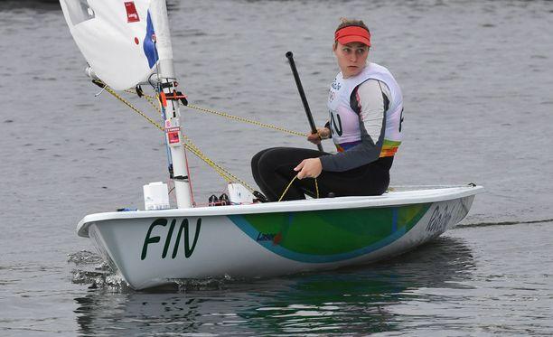 Tuula Tenkanen ei törmännyt irtaimistoon Rion olympiavesissä.